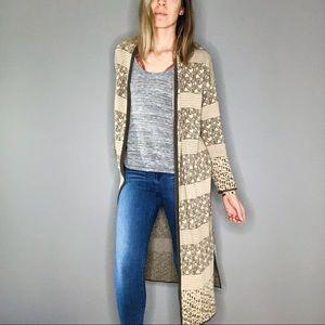 Vintage Neiman Marcus Pattern Knit Duster Cardigan